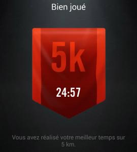 records 5km Nikeplus